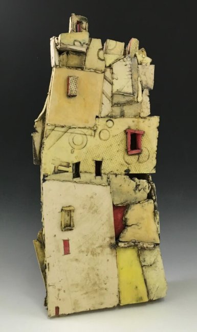 9th ward (ceramic with stains, glaze) 15X27