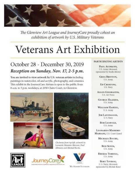 flyer for Veterans Art Exhibit