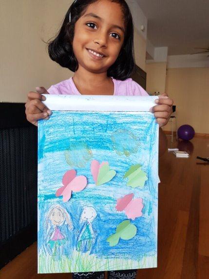 Shivathmika's springtime scene