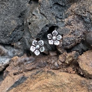Sterling Flower Stud Earrings