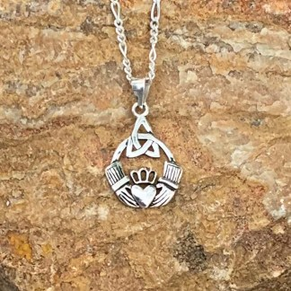 Celtic Claddagh Sterling Pendant