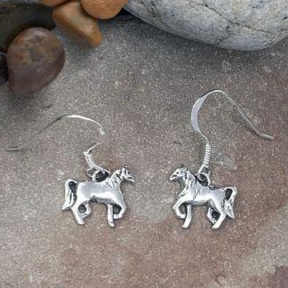 Sterling Horse Dangle Earrings