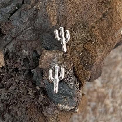 Sterling Cactus Stud Earrings
