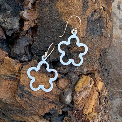 Sterling Floral Puzzle Earrings