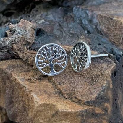 Tree of Life Stud Earrings