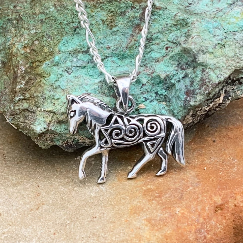 Sterling Filigree Horse Pendant