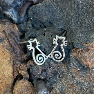 Sterling Cat Stud Earrings