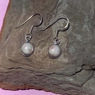 Cinnabar Sterling Dangle Earrings