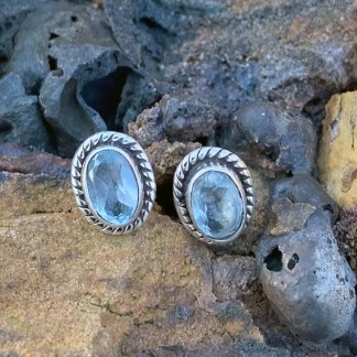 Blue Topaz & Sterling Earrings