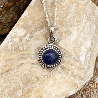 Midnight Lapis Sterling Pendant