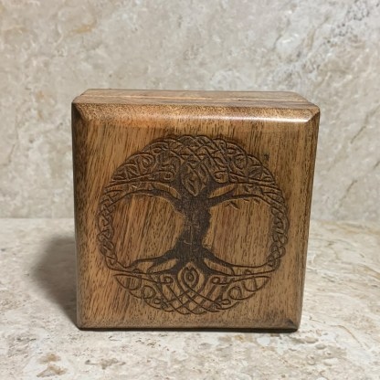 Engraved Tree of Life Box