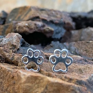 Sterling Animal Paw Earrings