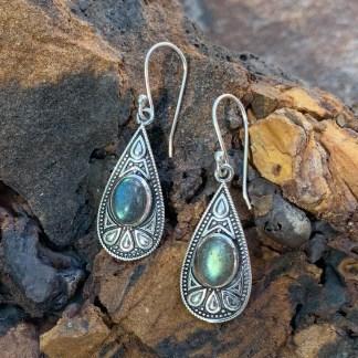 Labradorite & Sterling Dangle Earrings