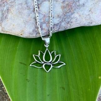 Sterling Lotus Petal Pendant