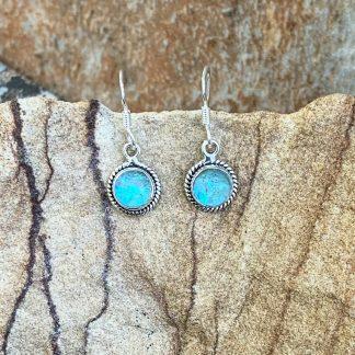 Delicate Opal & Sterling Earrings