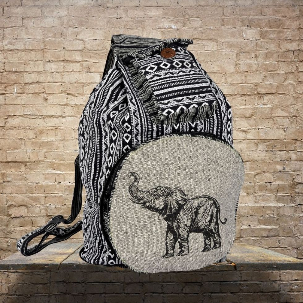 Cotton Elephant Convertible Backpack