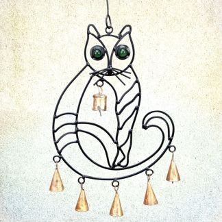 Iron Cat Wind Chime