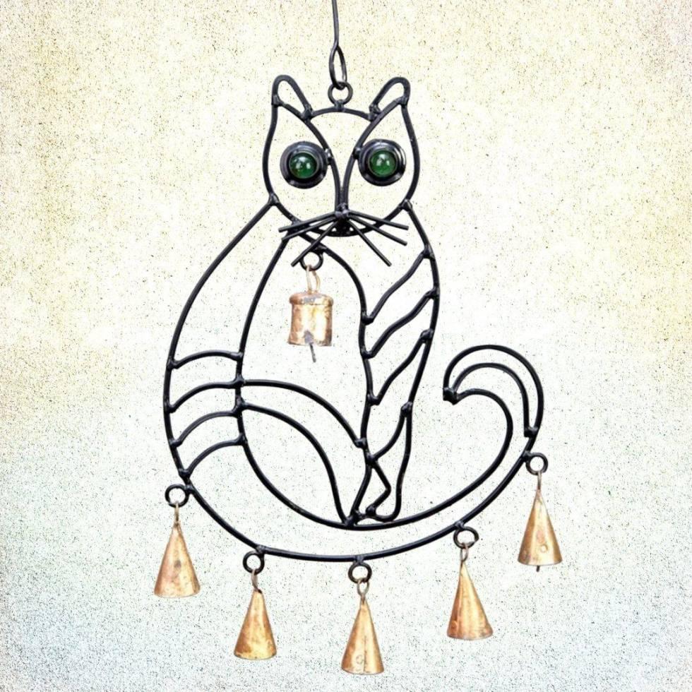Iron Cat Wind Chime