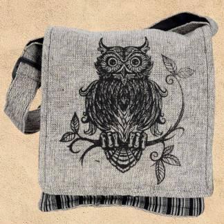 Owl Cotton Crossbody Bag