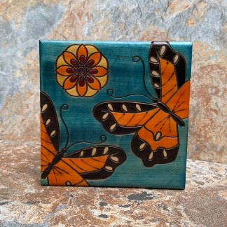 Handcrafted Monarch Butterfly Box