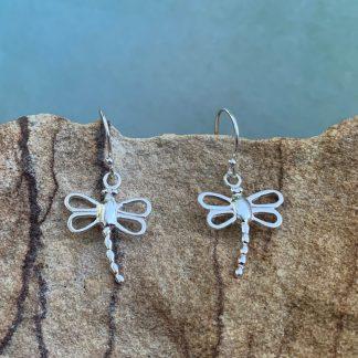 Sterling Open Dragonfly Earrings