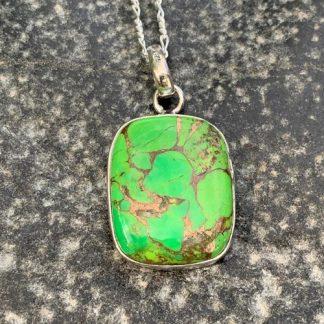 Green Copper Turquoise Pendant