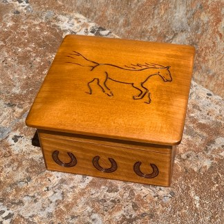 Handcrafted Galloping Horse Box