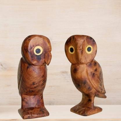 Moroccan Thuya Wooden Owl