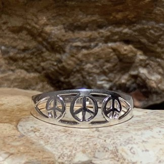 Sterling Triple Peace Ring