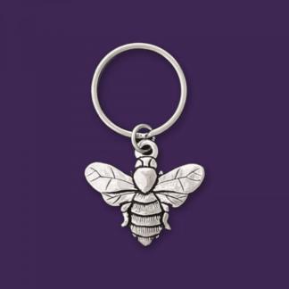 Sweet Honeybee Pewter Keychain