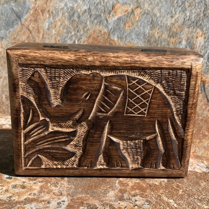 Elephant Mango Wood Box