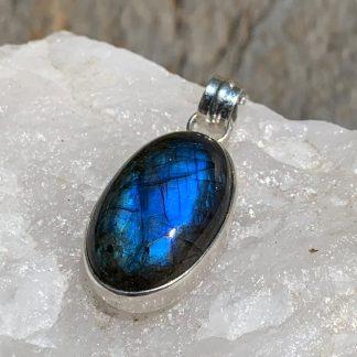 Labradorite & Sterling Silver Pendant