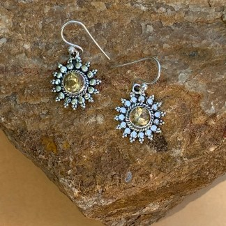 Citrine & Sterling Starburst Earrings