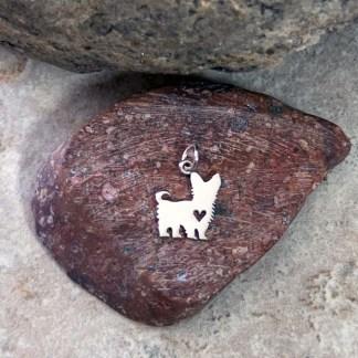Sterling Yorkshire Terrier Pendant