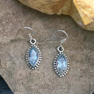 Blue Topaz Sterling Earrings