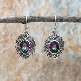 Mystic Topaz-Sterling Drop Earrings