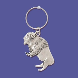 Buffalo Spirit Pewter Keychain