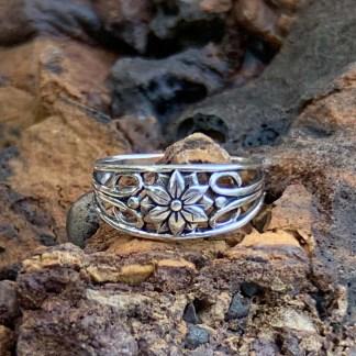 Sterling Silver Plumeria Ring