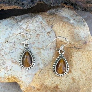 Tigers Eye Teardrop Earrings