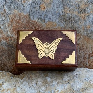 Box with Brass Butterfly