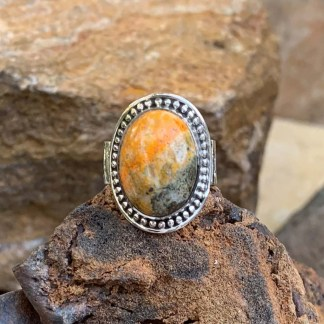 Bumblebee Jasper Beaded Ring