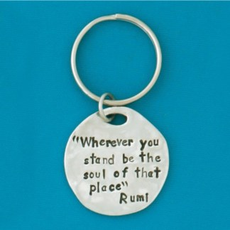 Rumi Quote Pewter Keychain