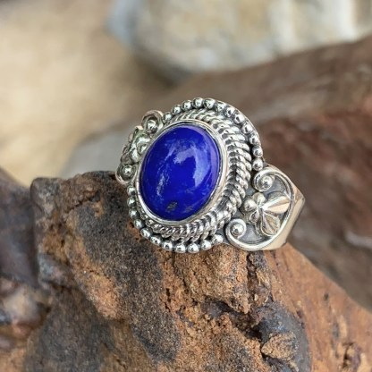 Lapis Sterling Silver Ring