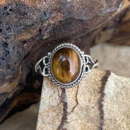 Tiger's Eye Sterling Ring