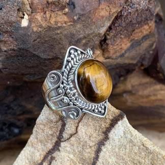 Elegant Tigers Eye Ring