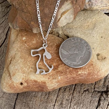Sterling Cute Doggy Pendant