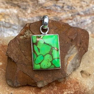 Green Copper & Turquoise Pendant