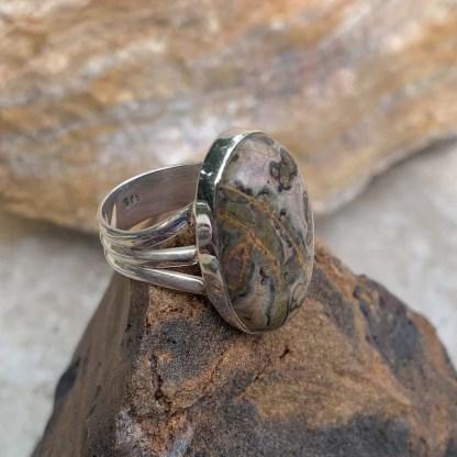 Leopard Skin Jasper Ring Side