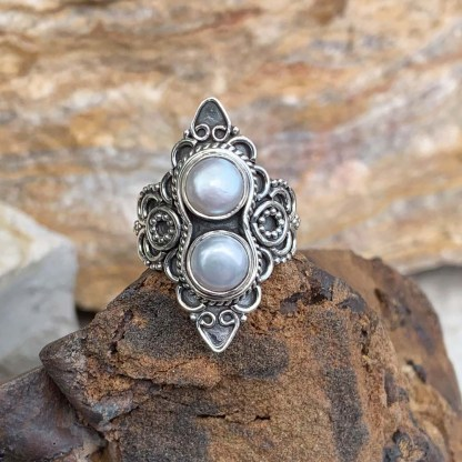 Pearl & Sterling Silver Ring