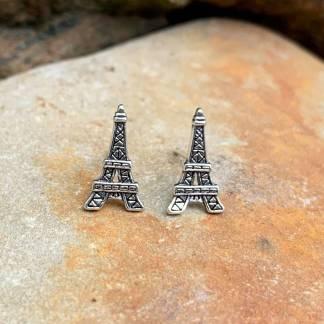 Eiffel Tower Sterling Studs